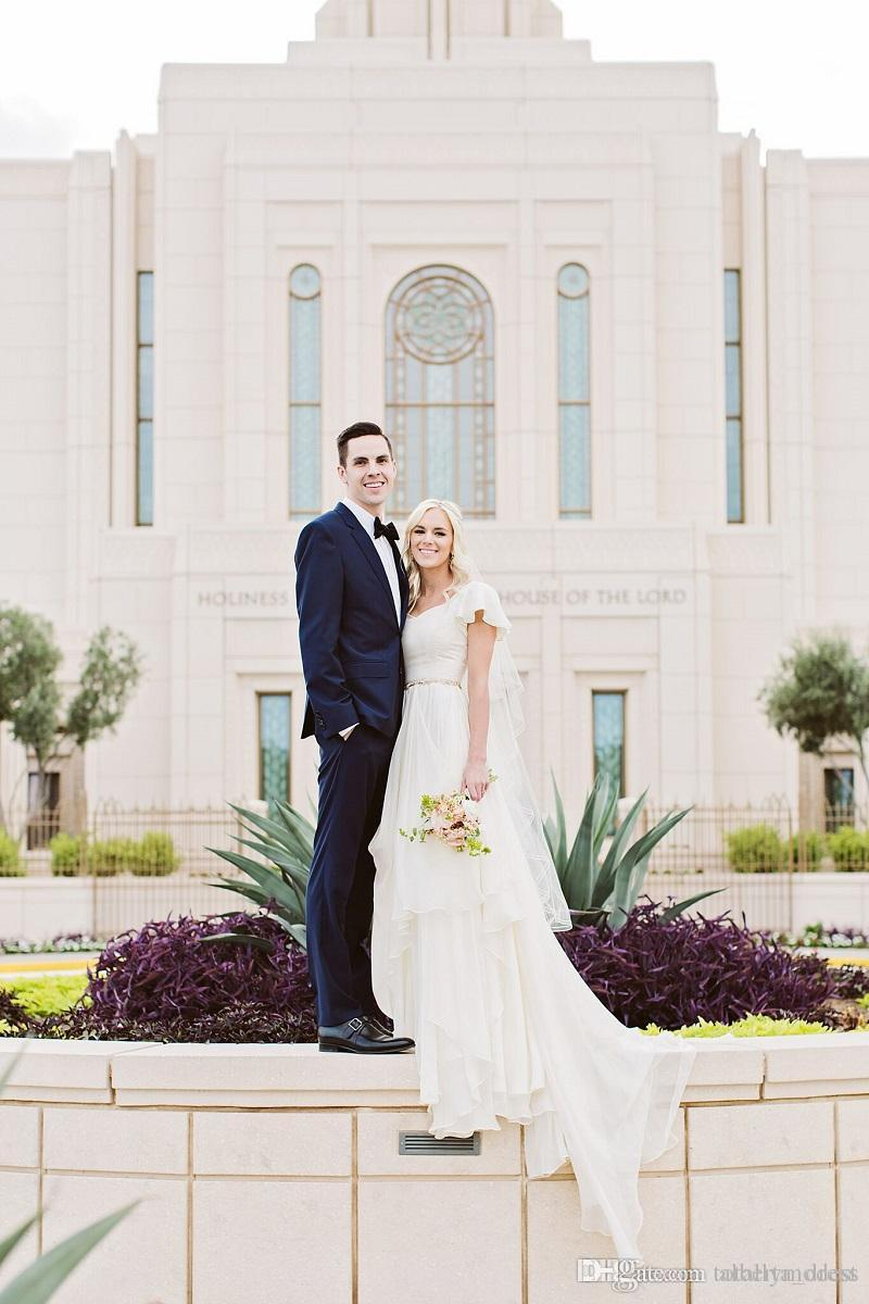 Informal colored wedding dresses