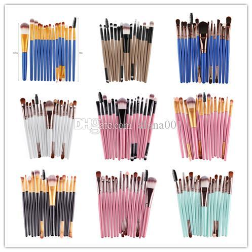 15pcs Makyaj Fırçalar Seti Pudra Fondöten Göz Farı Eyeliner Dudak Fırçası Aracı Marka Yukarı Fırçalar Güzellik Araçları MAG5168 olun