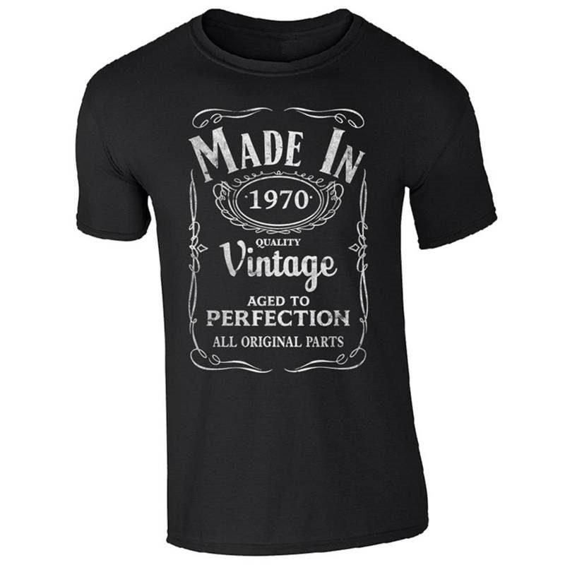 Brand 2018 New T Shirt Cotton Short Cotton Crew Neck Mens Made In 1970 Shirts