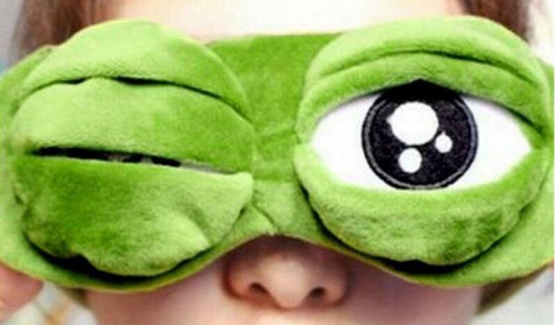 Новые Мягкие 3D Зеленые Лягушачьи Макияжа Для Глаз Сон Мягкий Дорожный Покров Отдых Отдыхайте с завязанными глазами Смешная маска для глаз