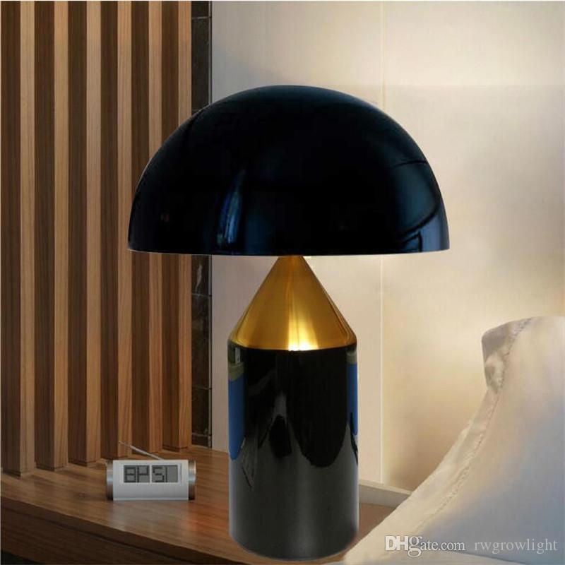 mesa de diseño de la personalidad creativa de setas dormitorio de la lámpara de cabecera mesa de cristal geométrica estudio de la luz de iluminación decoración del hotel casa