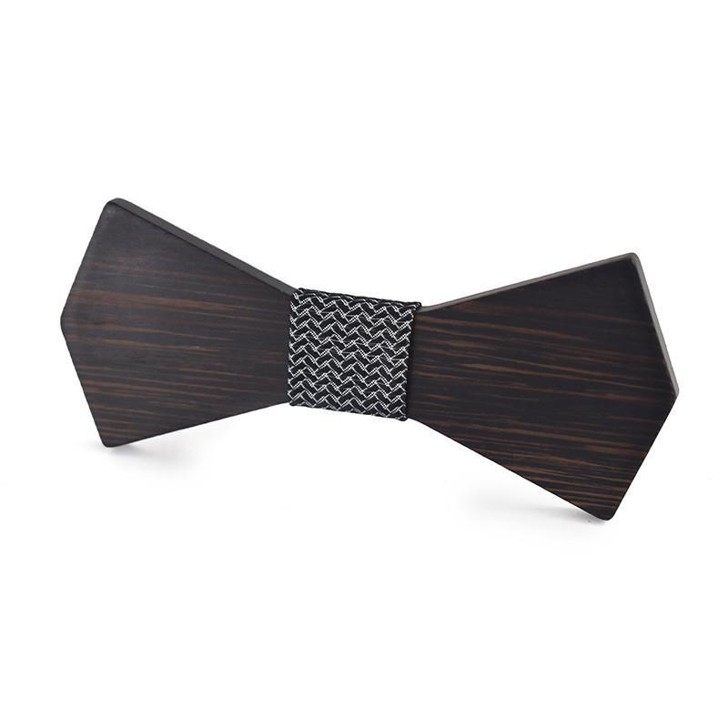 Tendance de la mode Un seul produit Importé En Bois En Bois À La Main Décoratif Bow Tie Accessoires En Bois Des Hommes Des Hommes Des Accessoires En Bois Tie Bow