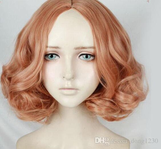 Persona 5 Jeu Haru Okumura Perruque de costume Cosplay moelleux avec mélange orange rose