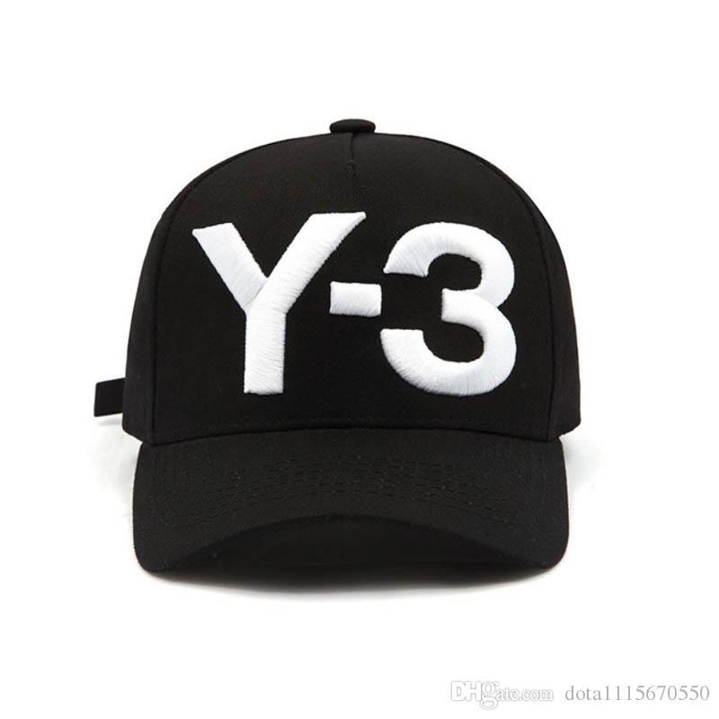 패션 Y-3 퓨어 코튼 피크 힙합 야구 모자 수 놓은 편지 조정 가능한 남성 여성 캐주얼 Snapbacks 스포츠 바이저 gorras hats