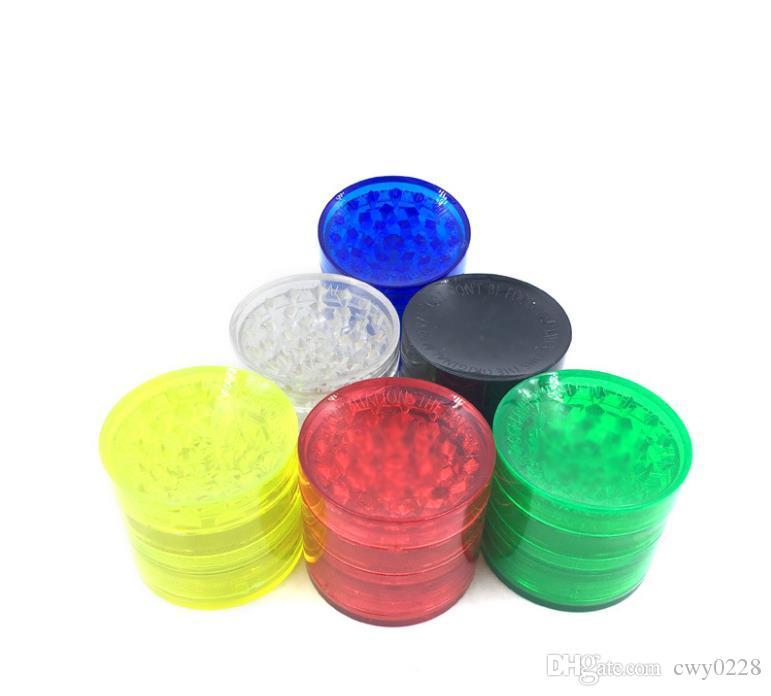 Şeffaf plastik katman dört 52mm çaplı akrilik dişler TOBACCO GRINDER kırık tütün cihazı