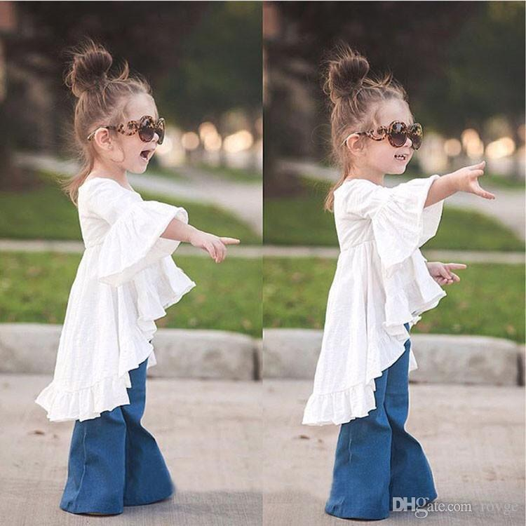 Europe and the United States new sweet girl children's clothing shirt children's clothing doll skirt cotton shirt T-shirt