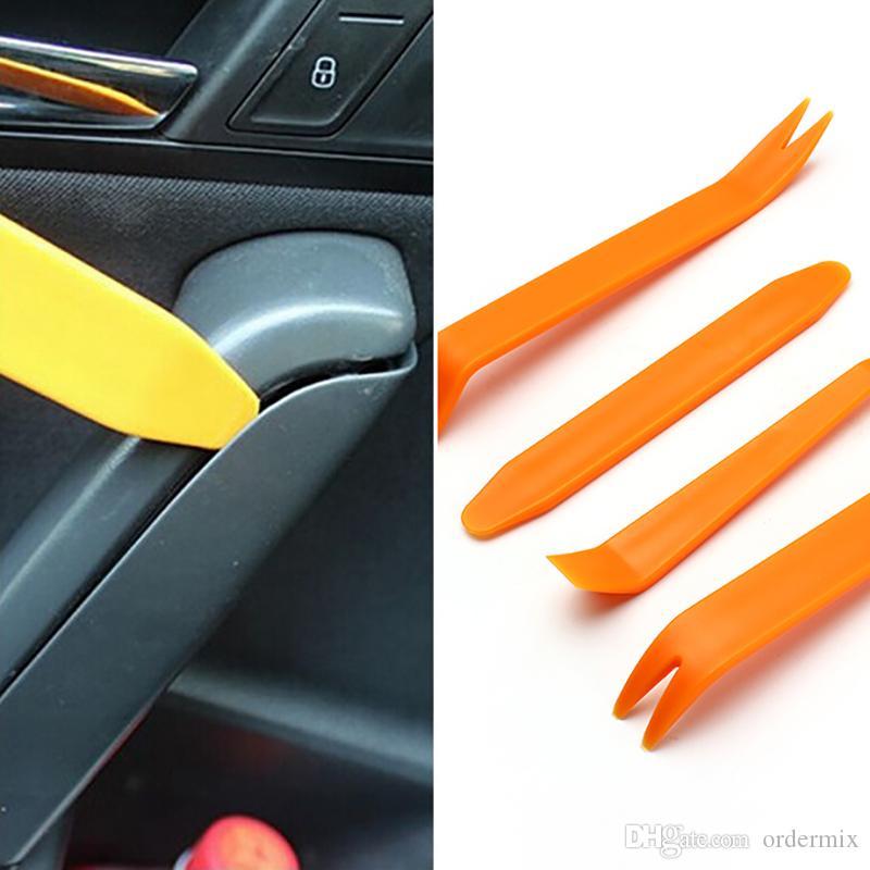 Novo 4 pçs / set Car Kits de Instalação Estéreo Painel de Remoção de Rádio Painel de Ferramentas Clipe Guarnição Traço Removedor de Áudio Kit de Pry Ferramenta de Reparo