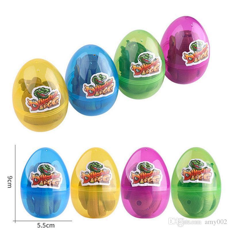 DHL 96pcs Easter Surprise Eggs Dinosaur Toy Model Deformed Dinosaurs Egg Collection Toys For Children gift kids toy