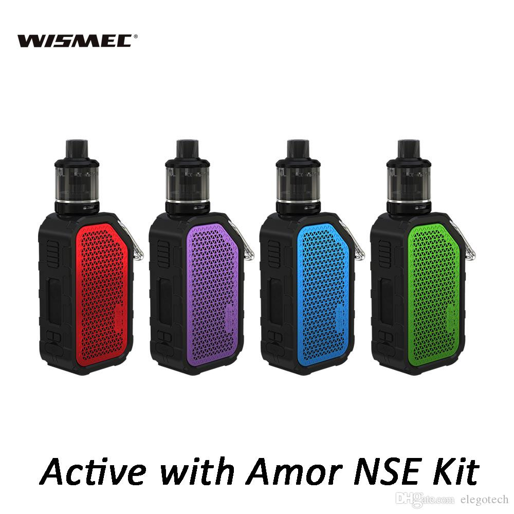 Wismec Active Music Kit with Amor NSE 3ml/2ml Tank Bluetooth Waterproof Mod + Hook 2100mAh Battery Electronic Cigarettes Kits 100% Authentic