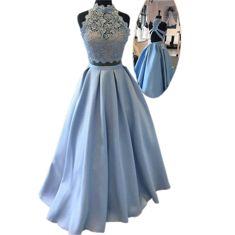 hellblau kleid lang 80b201