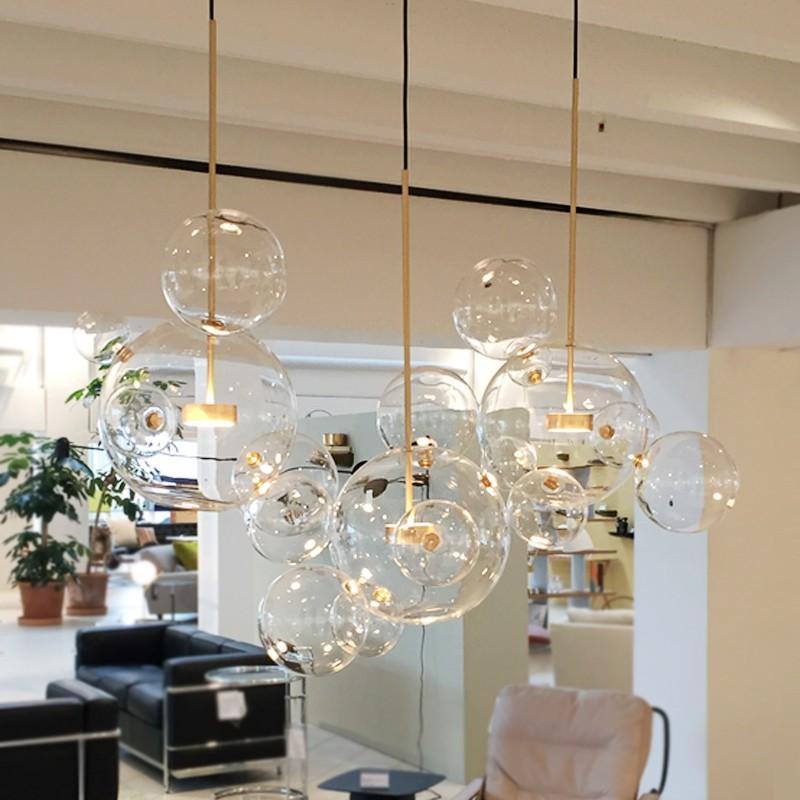 Clear Glass Ball Living Room Chandeliers Art Deco Bubble Lamp Shades  Chandelier Modern Indoor Lighting Restaurant Kitchen Island Pendant  Lighting ...