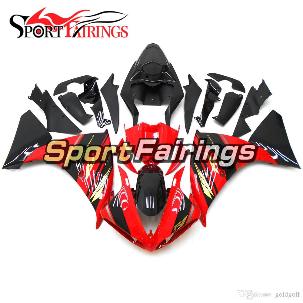 Gloss Red Black Complete Fairing Kit For Yamaha YZF1000 R1 09 10 11 2009 2010 2011 ABS Plastic Motorcycle Body Kits Bodywork New Arrive