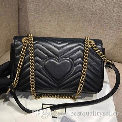 Yeni moda Marmont omuz çantaları kadın lüks dana deri zincir crossbody çanta çanta ünlü tasarımcı çanta yüksek kalite kadın çantası