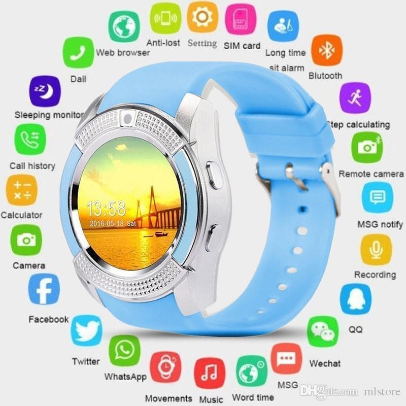 ALLCACA Smart Watch Bluetooth Smartwatch with Camera Touch Screen SIM Card Slot, Waterproof Phones Smart Wrist Watch Sports Fitness Compatib