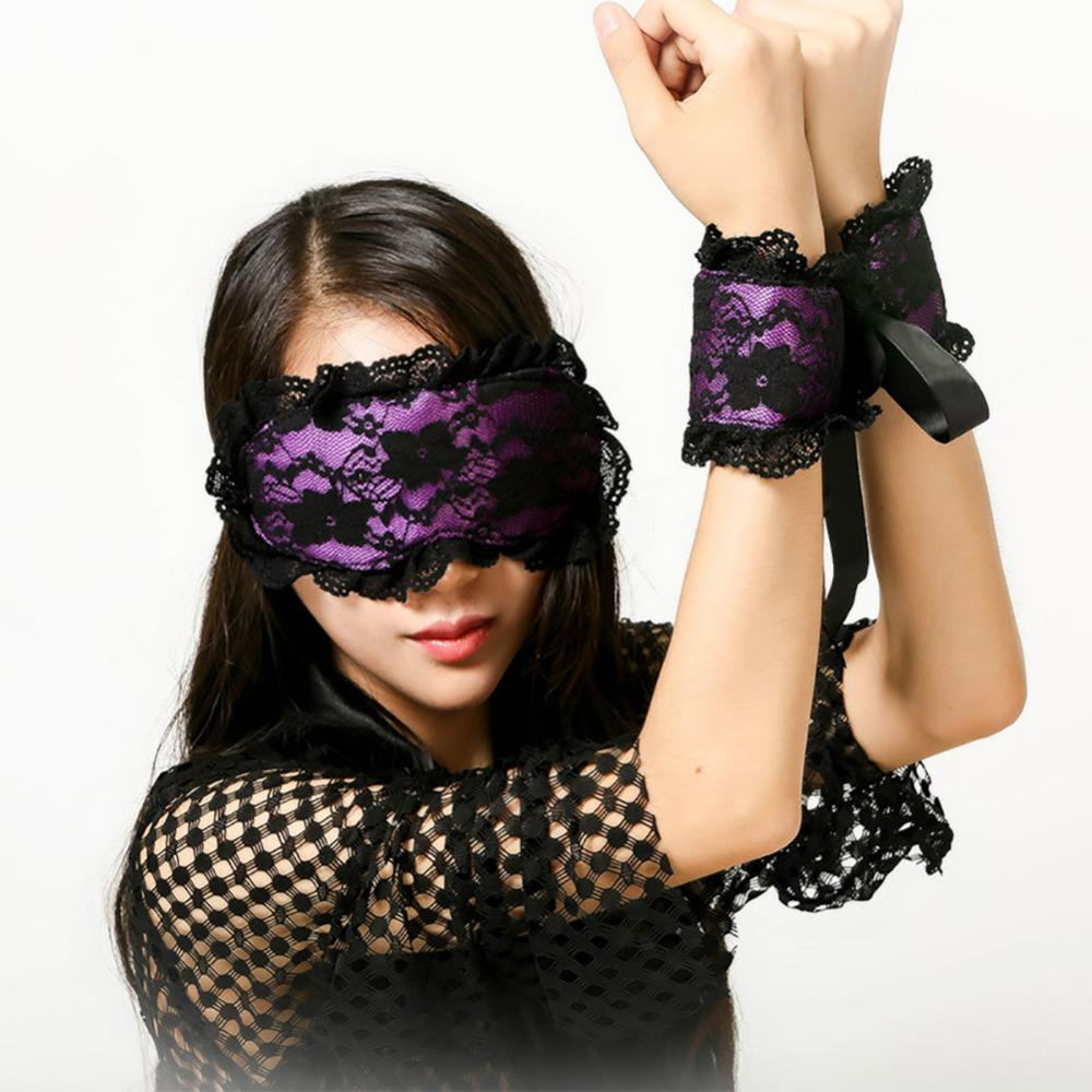 Couple Porn Adult Game Fetish Costumes Sexy Lingerie For Sex Toy Lace Mask Handcuffs Bead Whip Sets Blindfolded Av Flirt Prop S18101509