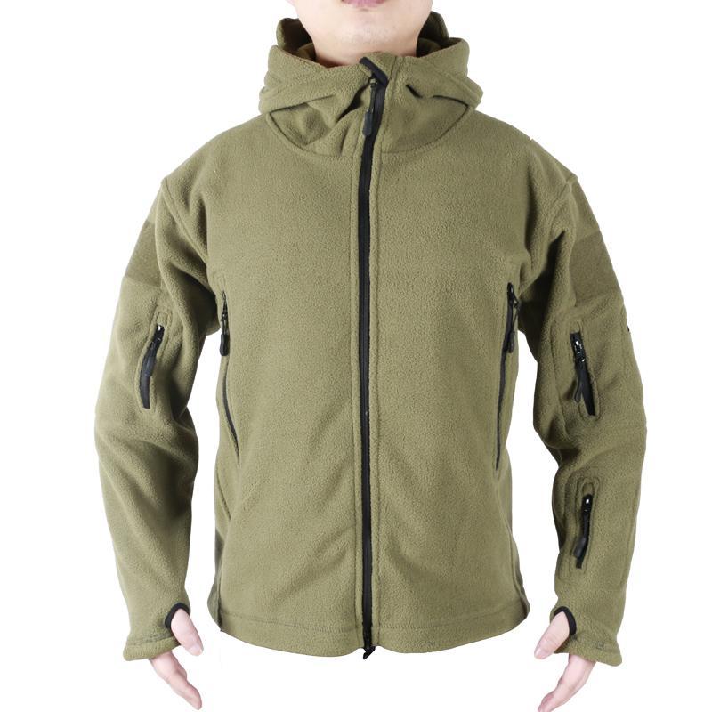 Revestimento do velo Quente Homens Tactical Jacket térmica respirável com capuz Homens Jaquetas e casaco Casacos roupa do exército