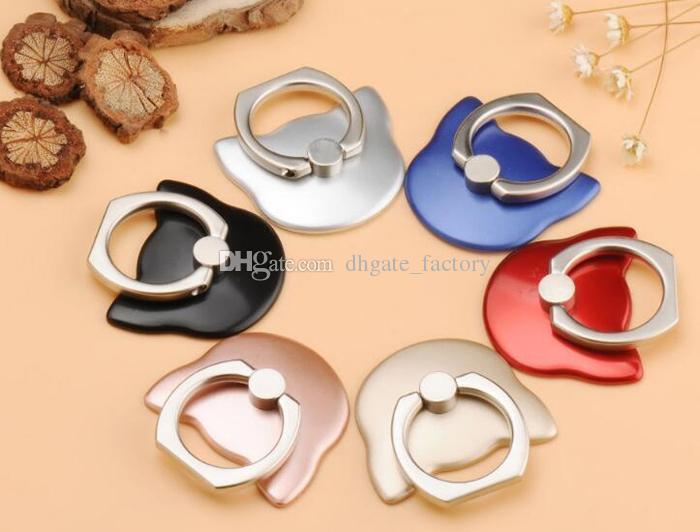 Finger Ring Ring Support de portable Support anneau Lazy métal boucle téléphone portable Support 360 degrés Support Support Pour tout téléphone cellulaire
