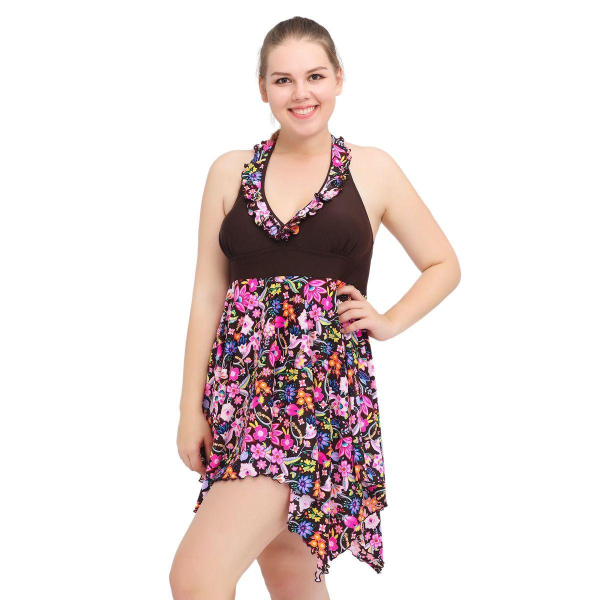 Nueva Flores del verano ropa de playa purole de trajes de baño de alta calidad de las mujeres del traje de baño de deportes acuáticos de tiras con el pecho trajes de dos piezas