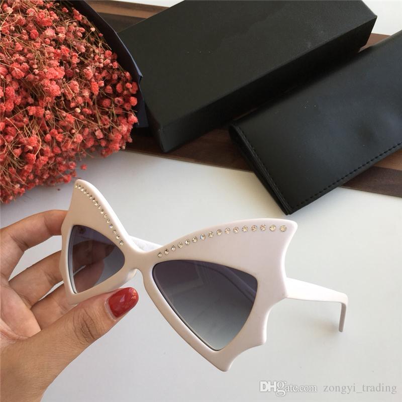 SL241 Высочайшее Качество Популярная мода Бабочка стиль женщины дизайнер солнцезащитные очки Защита от ультрафиолетовых лучей очки с оригинальной коробке 241