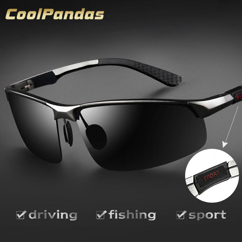 Occhiali da sole in alluminio magnesio degli uomini di marca HD polarizzati UV400 occhiali da sole a specchio di guida per gli uomini Eyewear masculino