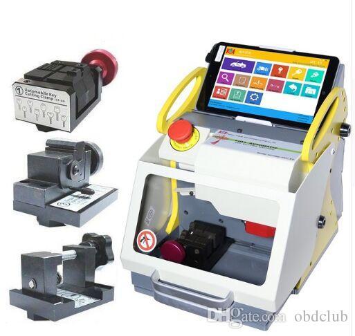 DHL 2018 Tam Otomatik SEC-E9 Anahtar Kesme Makinesi Otomatik Anahtar Programcı tüm arabalar için / wenxing SEC-E9 anahtar kesme makinesi silca / anahtar makinesi