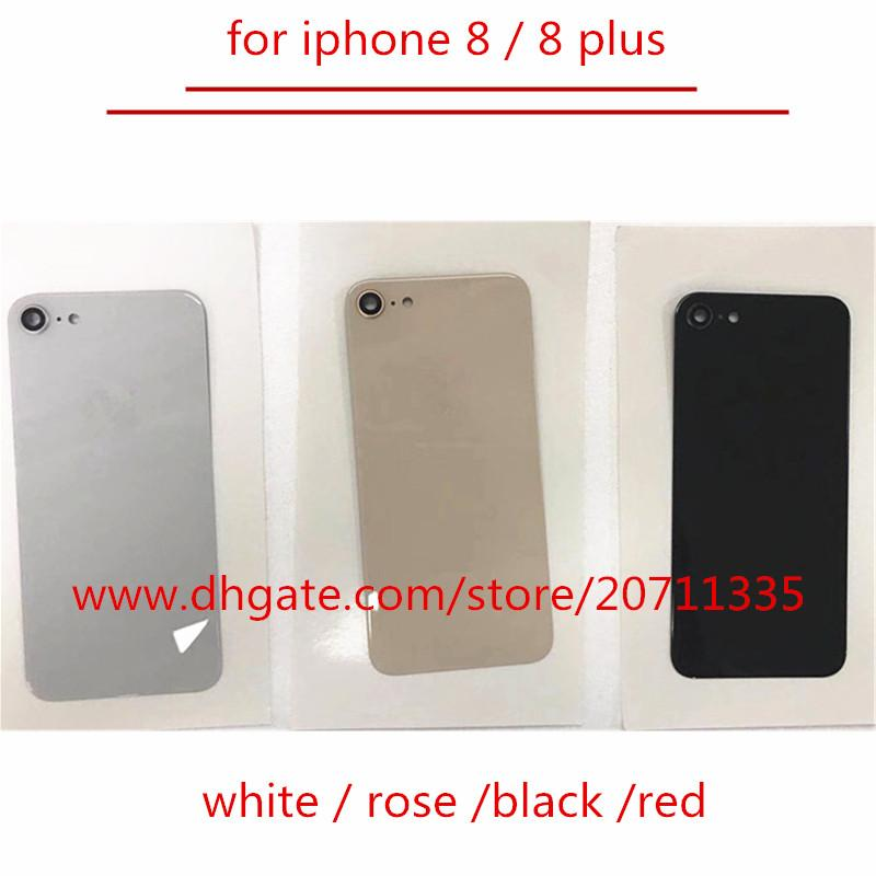 10pcs OEM A quality 2018 NEW with sticker Back Rear Cover Battery Housing Door glass For iPhone 8 /8 plus back glass
