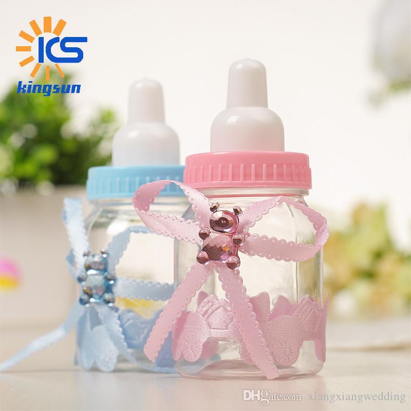 Boîtes de bonbons de mariage Baby Bouteille Forme En plastique Candy Box Petit ours Boîtes Creative Candy Box Wholesale
