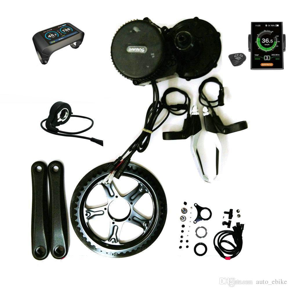 Kits détraqués d'Ebike de vélo d'Electric de moteur de 36V 500W 8Fun / Bafang BBS02 avec l'affichage à cristaux liquides 850C