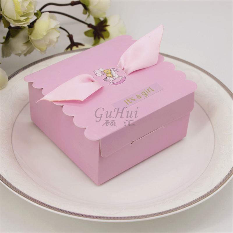 50pcs / lot rosa blu del fumetto carino orso palloncino carosello Caramella ragazza ragazzo battesimo festa di compleanno regalo di favore baby shower regali