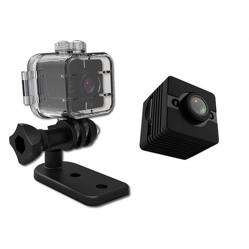 SQ12 Mini cámara impermeable Shell 1080P HD 30M inmersión Deportes DV videocámara DVR Detección de movimiento Night Vision Video grabadora de voz