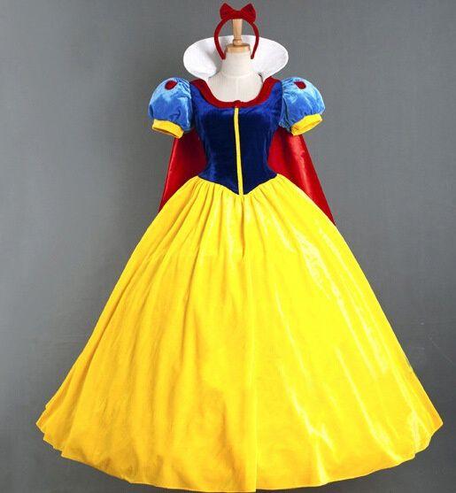 Compre Moda Princesa Blanca Nieves Vestido Mujeres Fantasia Princesa Blancanieves Cosplay Carnaval Disfraces Fiesta Para Mujeres Disfraces