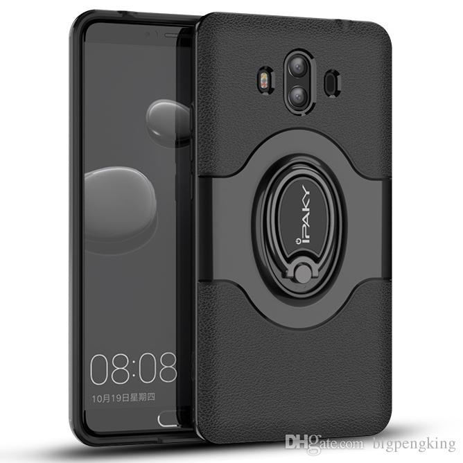 buy popular 4a6b2 5d2f8 IPaky Magnetic Case For Huawei Mate 10 Pro Mate10 Ring Stand Holder Back  Cover PC+TPU Drop Proof Cases With Package In Stock Western Cell Phone  Cases ...