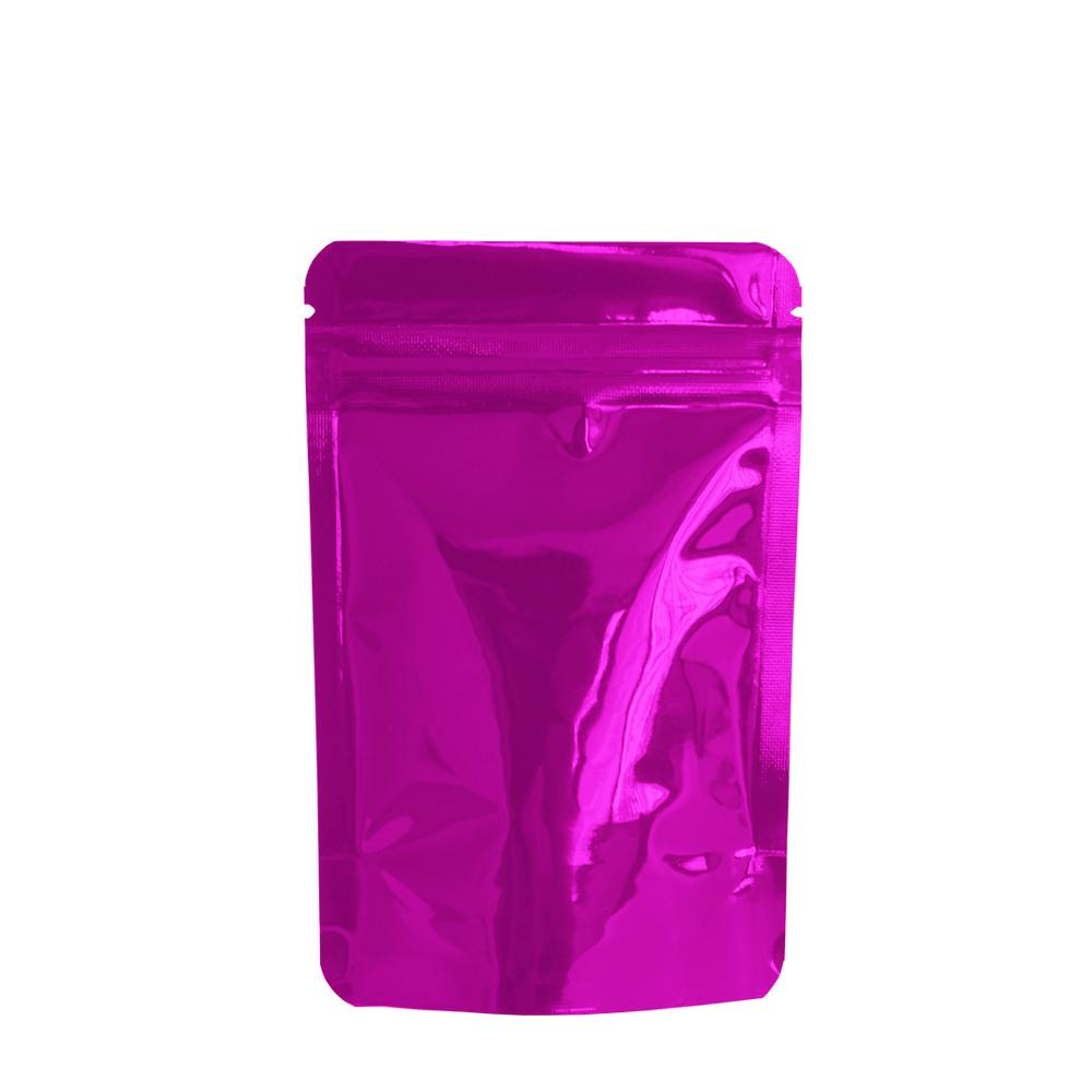 8.5 * 13 cm Mor Reclosable Stand Up Zip Kilit Mylar Folyo Paketi çanta Toptan Isı Seal Doypack Gıda Şeker Kahve Çay Su Geçirmez Fermuar Çanta
