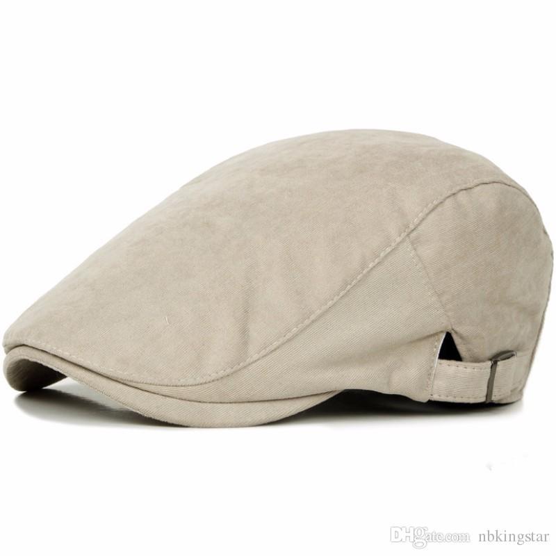 Sun Hats for Men Classic Western Newsboy Caps Woman Cotton Ivy Caps Flat Brim Adjustable Men Beret Cap