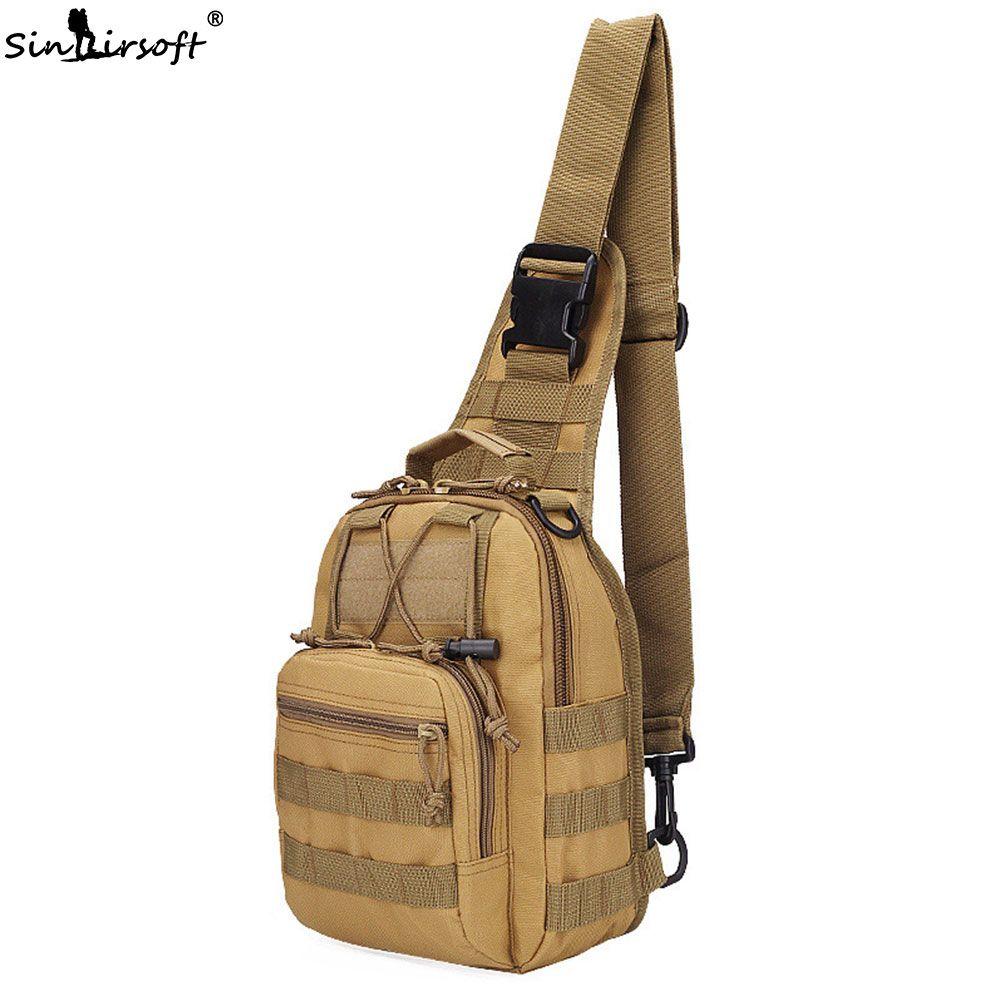 Tactical Chest Bags 600D Nylon Cross Body Bag Uomo Wading Chest Pack Crossbody Messenger Sling singola spalla Sport borsa da viaggio Zaino