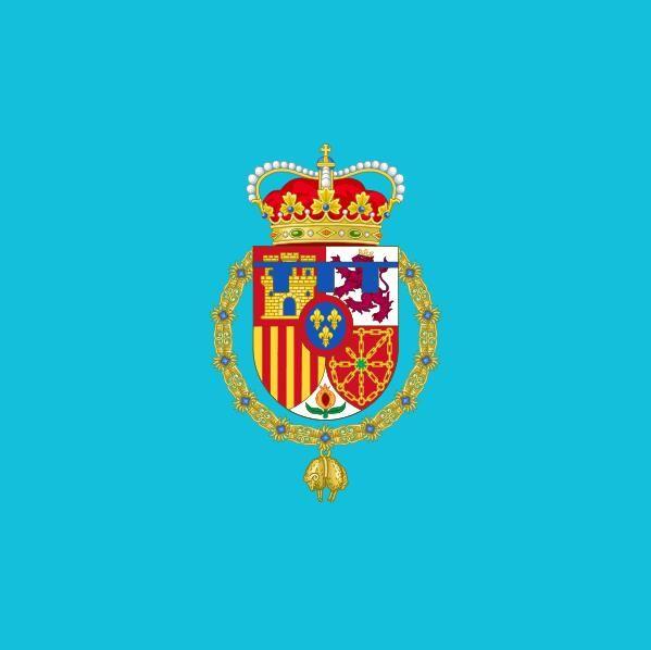 Flaga Hiszpanii Estandarte de Leonor Princesa de Princess of Asturias Standard 3FT X 3FT Poliester Banner Latający 90 * 90 cm Niestandardowa flaga na zewnątrz