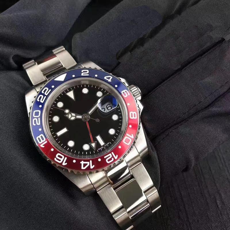 'Batman'116710 Mens BLACK Quality Watches Men's Automatic NEW Luxury High RED CERAMIC Watch BRAND Watch II Wristwatch Lfeuv