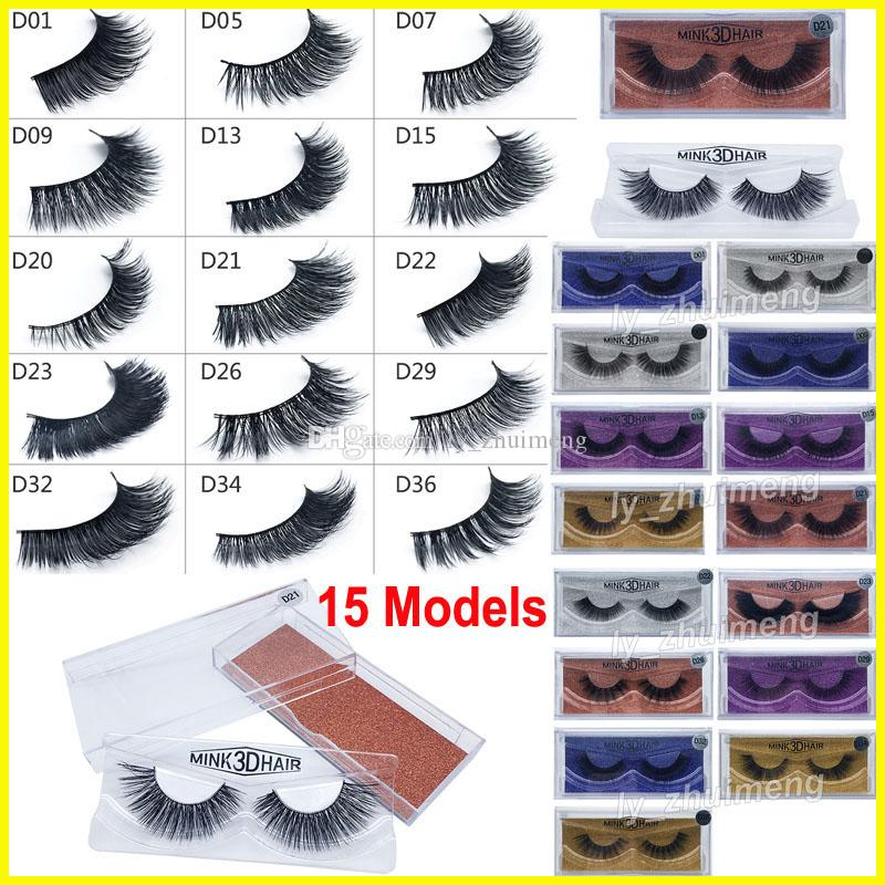 15 Styles 3D Mink False Eyelashes makeup lashes Real Mink Natural long lash Thick False Eyelashes Eye Lashes Makeup Extension Beauty Tools