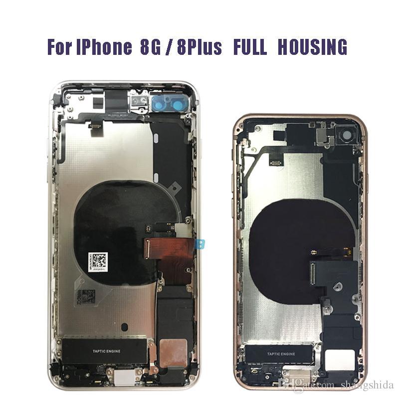 الإسكان الكامل للحصول على جودة عالية فون 8 8G 8plus زائد X الغطاء الخلفي الخلفي البطارية الإطار الكامل الإسكان الباب الهيكل الأوسط