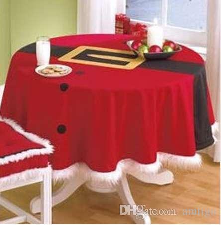 BitFly XMAS StyleTable Pano Rodada Hotel Toalha De Mesa de Natal Festa de Casamento Banquete Mesa Tampa Têxteis Para Casa 148 CM