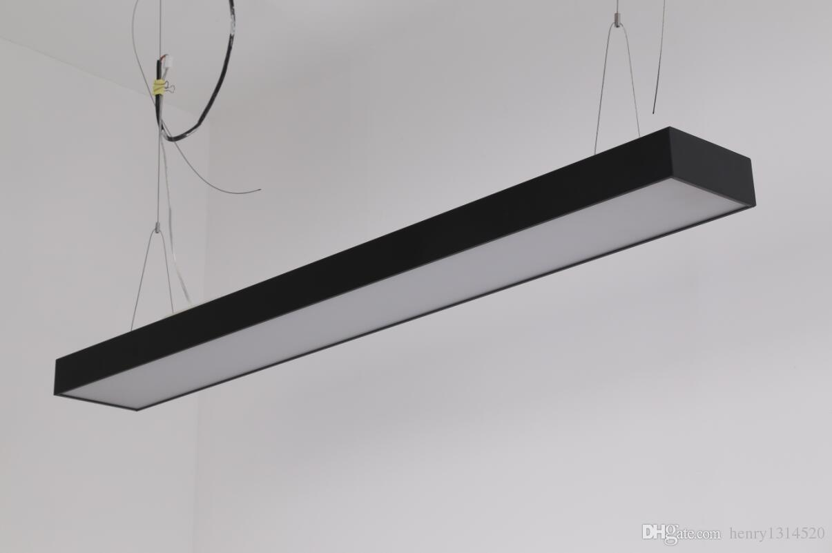Бесплатная доставка высокое качество черный корпус линейный Highbay Led Light алюминиевый профиль для жилья и офиса и отеля CE ROHS