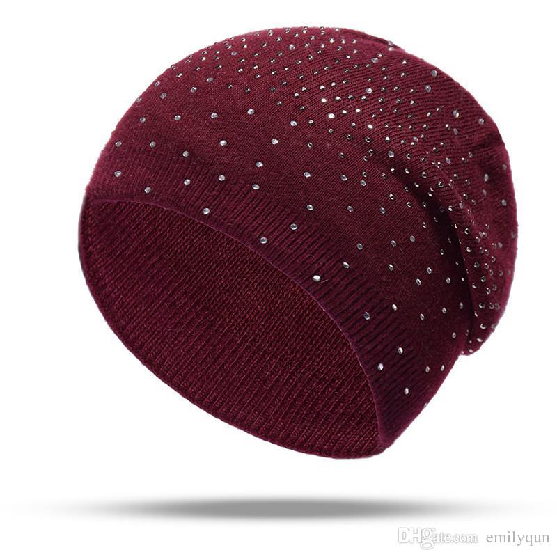 Brand Knitted Hat Skull Caps Autumn Winter Hat Woolen Beanies Caps Women Fashion Cashmere Warm Cap Lady Elasticity Knit Beanie Hats 7 Color