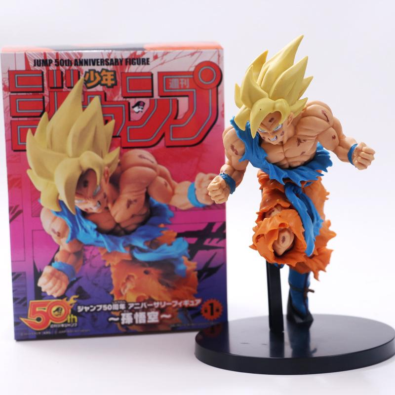 20 см мультфильм Dragon Ball Z фигурки Dragonball рисунок Son Goku Gokou Super Saiyan 2 Dbz ПВХ рисунок игрушки