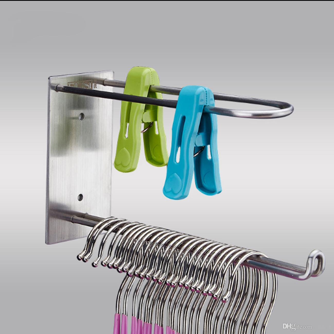 10 x Kitchen Bathroom Door Self Adhesive Wall Hanger Sticky Holder Hook Rack