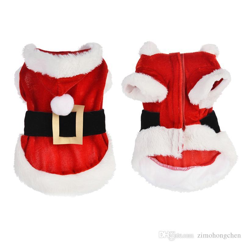 Navidad para mascotas ropa para perros más pequeños calentar la ropa de peluche del caniche, perro, gato envío libre XXS
