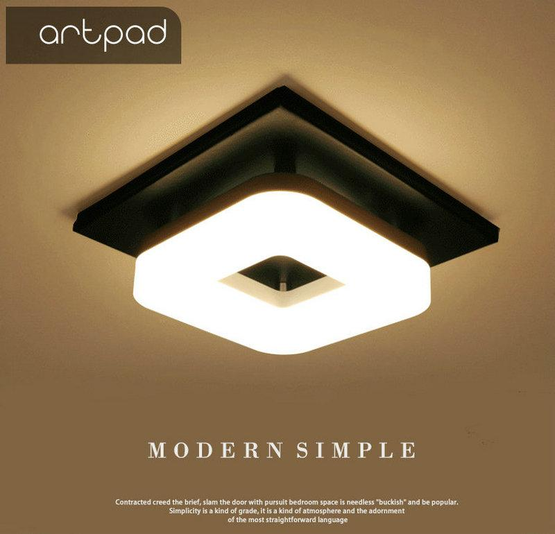2019 Artpad Modern Flush Mount Ceiling Light Hallway Porch Balcony Lamp Interior Lighting Surface Mounted Square Led Ceiling Lights From Fried 53 27