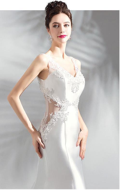 ... Vestido de novia de ángel Vestido de novia blanco de seda noble perla  importada francesa con ... 9ecbeb4e8942