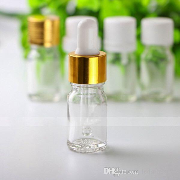 Wholesale Price 960Pcs/lot 5ml Clear Glass Dropper Bottles , 5ml Small Glass Bottles for Essential Oils Aromatherapy Free Shipping