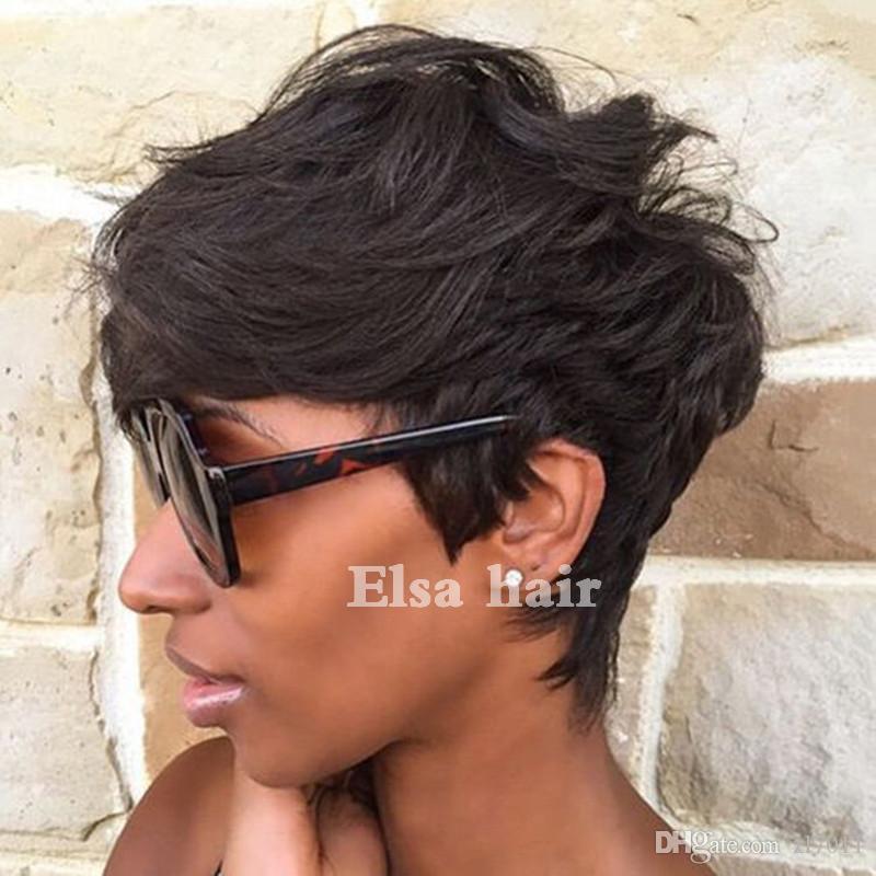 Short Brazilian Bob Cut Wigs Glueless Wigs Human Hair Bob Full Lace Wig For Black Women Full Culticle Short Bob None Lace Wigs Free Shipping