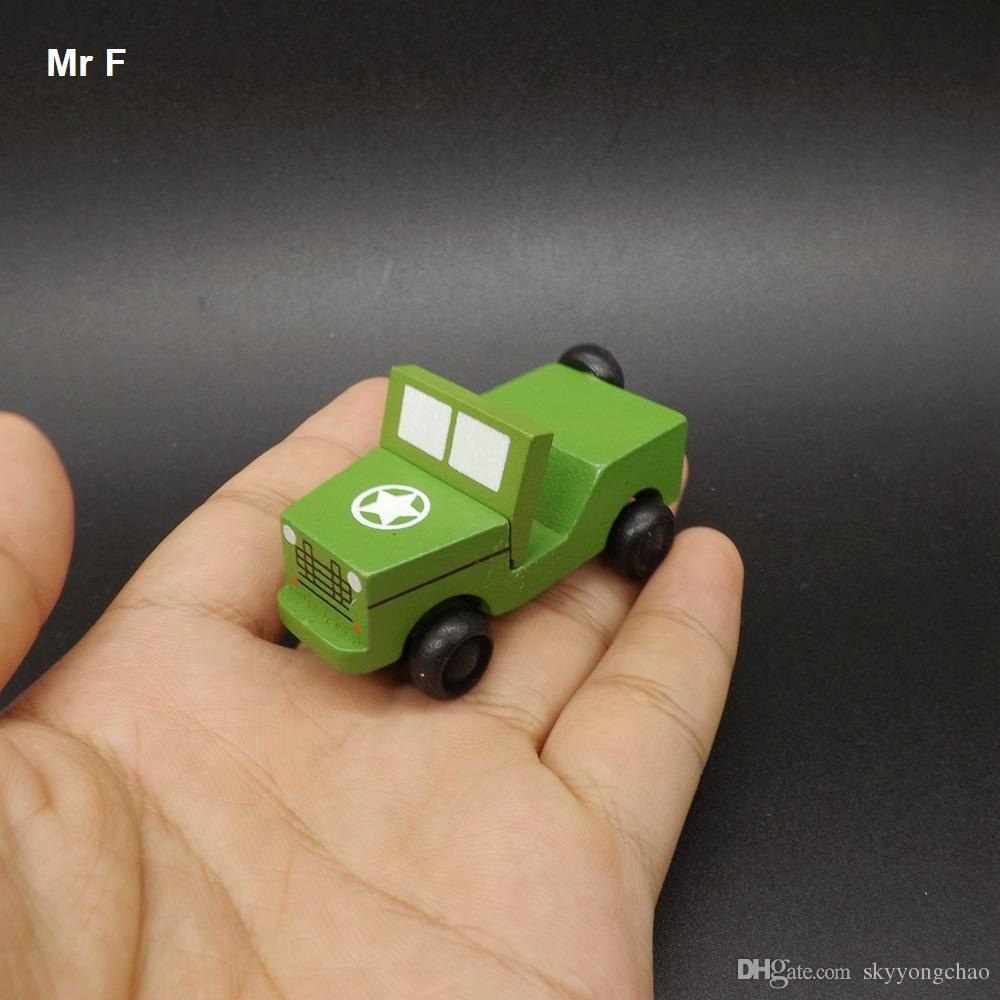 رائعة الأطفال البسيطة خشبية نموذج سيارة الأولاد لعب الاطفال العسكرية الجيب لعبة التعلم التعليمية التدريس الدعامة الأداة